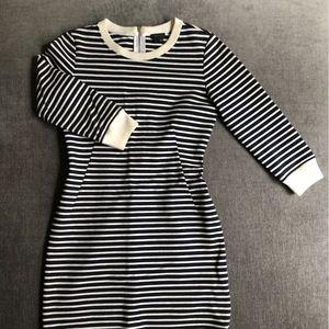 THEORY Stripe Dress Body Con